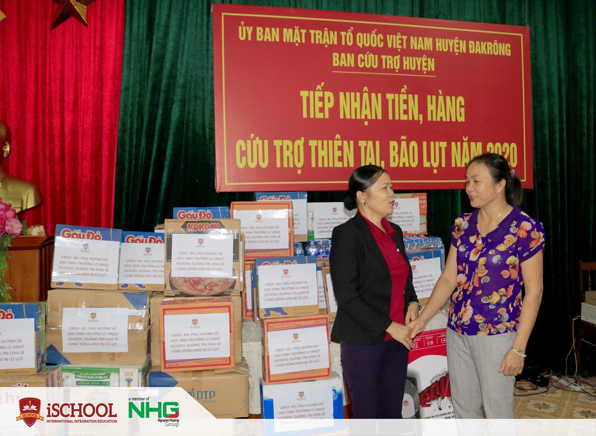 3 1 iSchool Quảng Trị chung tay cùng người dân vượt khó mùa mưa lũ