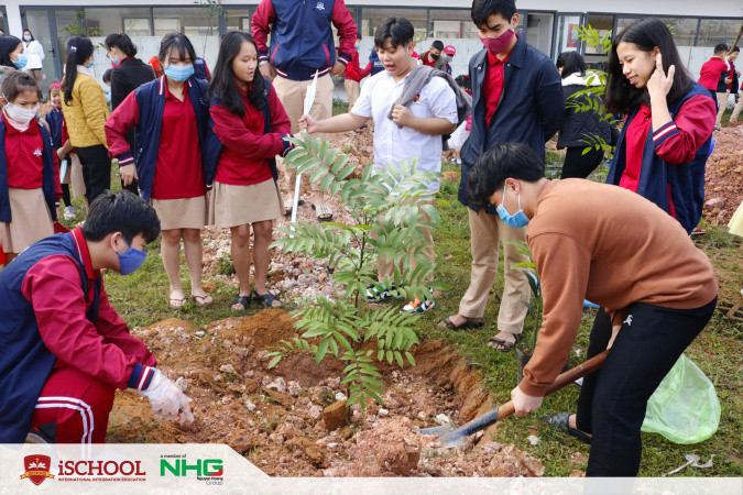 """1 1 iSchool Quảng Trị lan tỏa thông điệp bảo vệ môi trường với """"Tết trồng cây"""""""