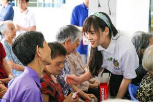 tong ket thien nguyen dot 1 9 Học sinh, sinh viên NHG mang hơi ấm mùa xuân đến các mái ấm, viện dưỡng lão