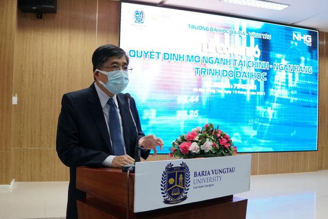 Thay Loc Trường Đại học Bà Rịa – Vũng Tàu ra mắt ngành Tài chính – Ngân hàng và ngành Marketing