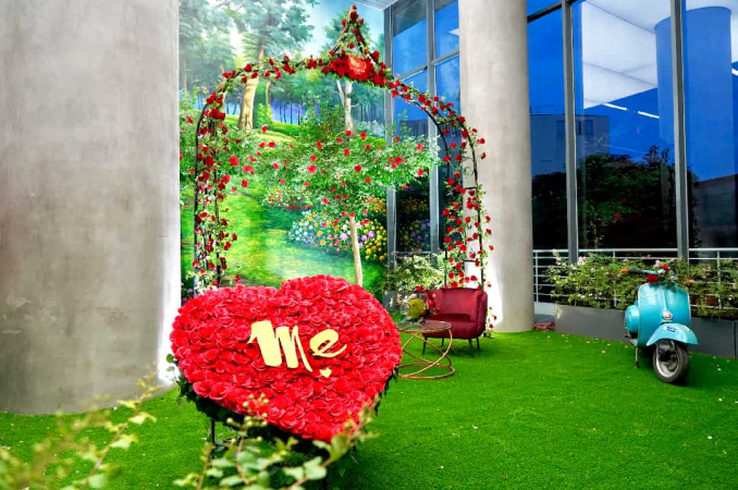 Vườn hồng tặng mẹ