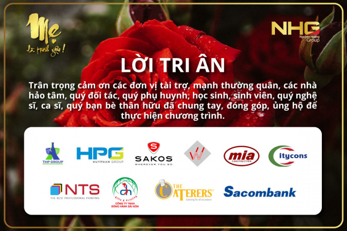 Loi Tri An Nha tai tro 1 Thư tri ân từ Ban tổ chức chương trình Mẹ là Tình Yêu