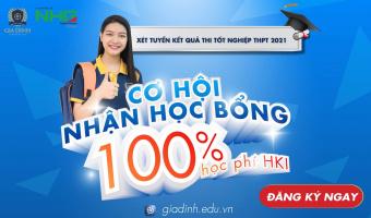 học bổng 100% học kỳ 1